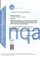 ISO Certificate - Steel International